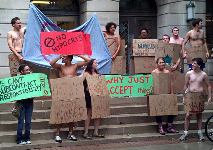 Students strip down in protest | UWire