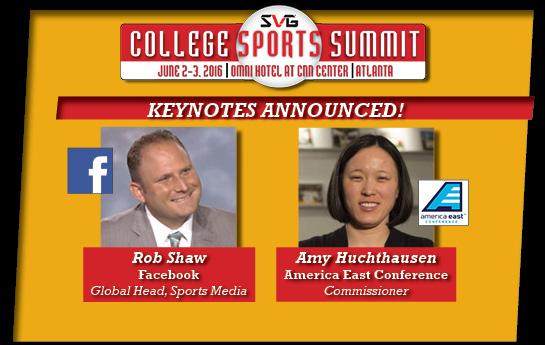 Facebook & America East To Keynote College Sports Summit, June 1-3, GA