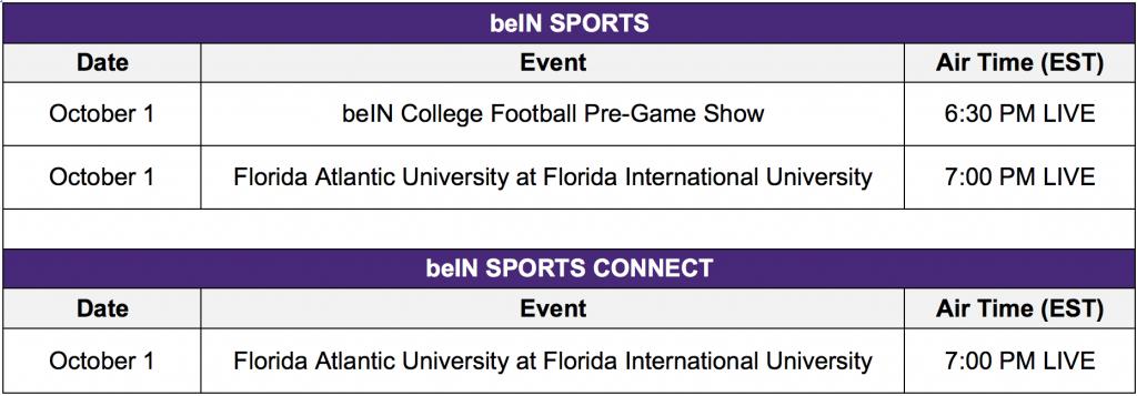 Football Schedule 10_1
